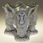 Three Buddha lucky oil Burner